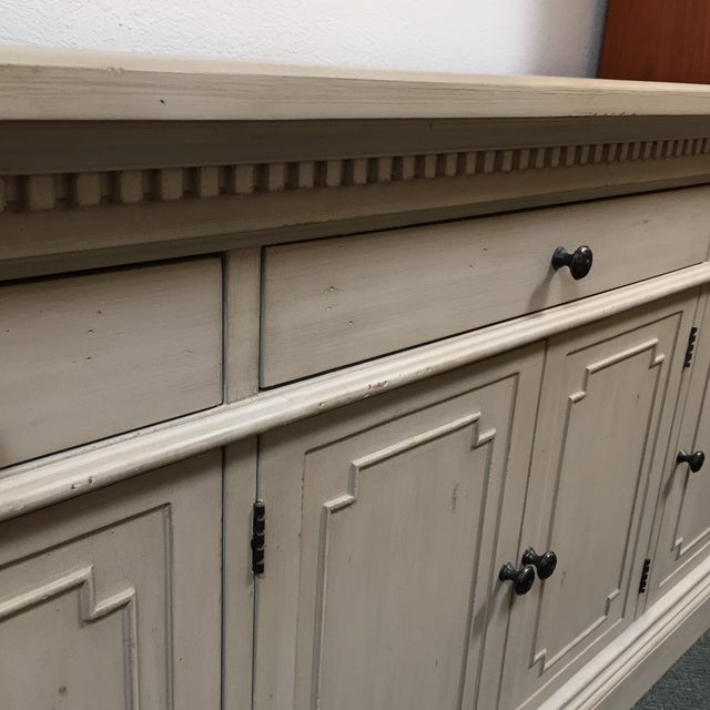 Restoration Hardware Restoration Hardware Antique White Finished St. James Credenza For Sale - Image 4 of 11