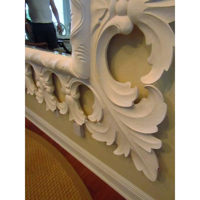 Modern Modern Christopher Guy Elaborately Carved Wood Framed Mirror For Sale - Image 3 of 10