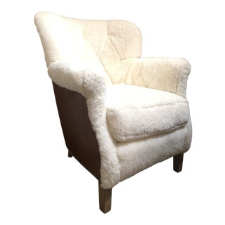 Shearling Arm Chair by Lee Industries For Sale