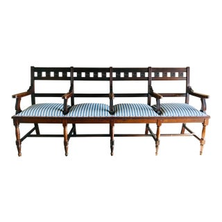 Late 19th Century Vintage Upholstered Bench For Sale