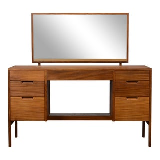 1960s Mid Century French Vanity Dressing Table With Mirror For Sale