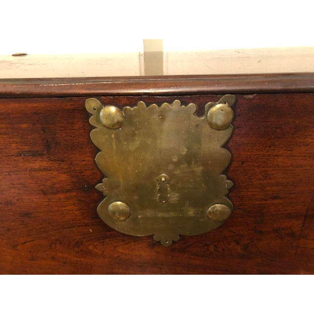 Americana Late 18th Century Antique Sea-Man's Chest For Sale - Image 3 of 12