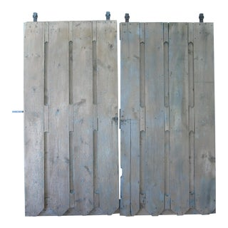19th Century American Gothic Barn Doors - a Pair For Sale