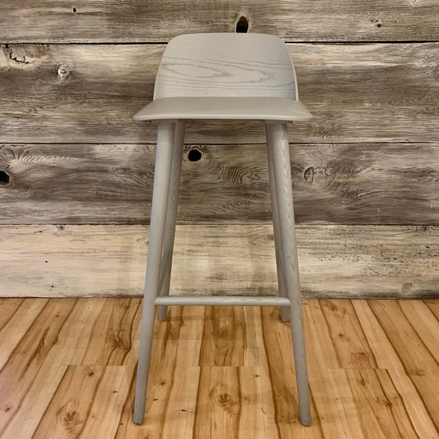 Contemporary Modern David Geckeler Muuto Nerd Molded Plywood Barstool For Sale - Image 3 of 13