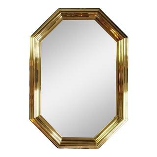 Vintage Labarge Mirror Brass Octagon For Sale