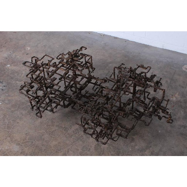 Bronze Brutalist Coffee Table by Daniel Gluck - Image 8 of 10
