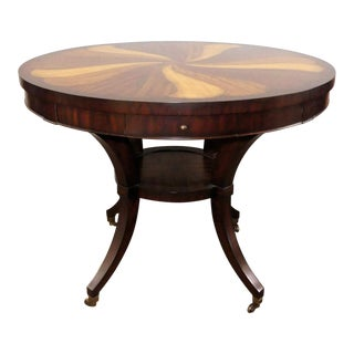Thomasville Ernest Hemingway Inlaid Wood Pinwheel Gaming or Center Table For Sale