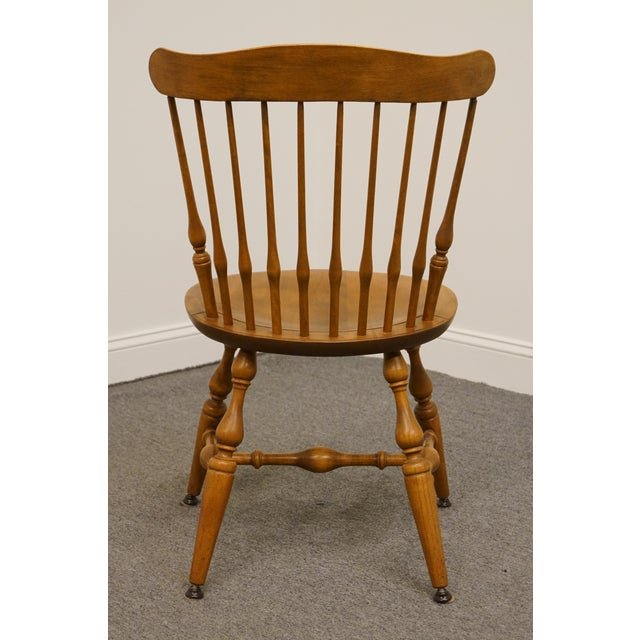Late 20th Century Vintage Nichols & Stone Solid Maple Spindle Back Dining Side Chair For Sale In Kansas City - Image 6 of 10