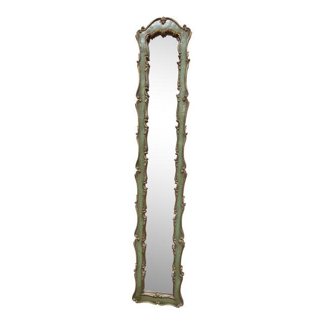 Long Slender Italian Florentine Mirror For Sale