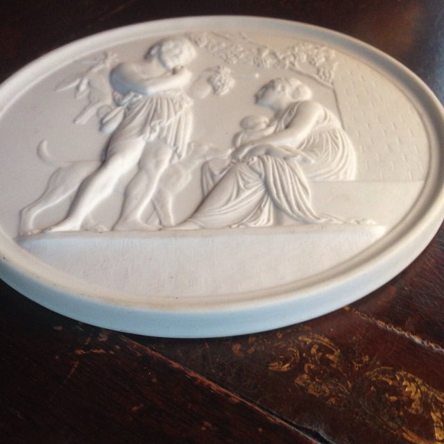 Traditional Bing & Grondahl B&g Bisque Autum Plaque For Sale - Image 3 of 5