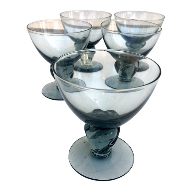 Italian Smokey Liquor Glasses - Set of 5 - Image 1 of 8