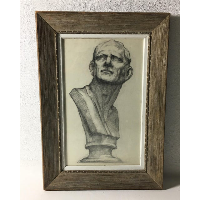 Academy Style Charcoal on Paper For Sale - Image 9 of 9