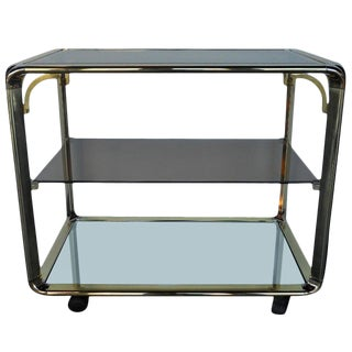 Elegant Vintage Bar Cart For Sale