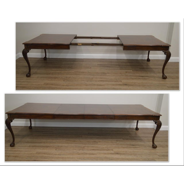*STORE ITEM #: 19058 Henredon Rittenhouse Square Collection Mahogany Chippendale Ball & Claw Banded Dining Table AGE /...