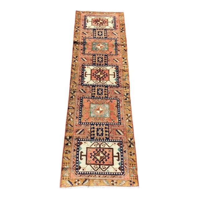 "Vintage Persian Karajeh Runner Rug - 2'8""x9'7"" For Sale"