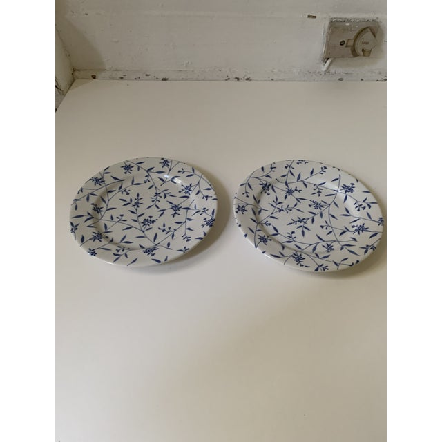 American Windsor Browne Furio Blue White Flower Stoneware Dishes - Set of 5 For Sale - Image 3 of 8