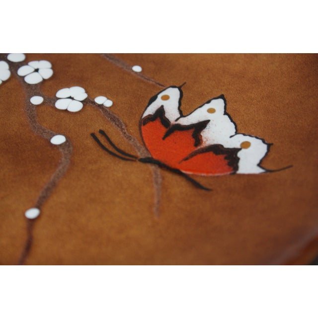 Mid-Century 'Butterfly' Enamel on Copper Dish by Bovano For Sale - Image 10 of 12