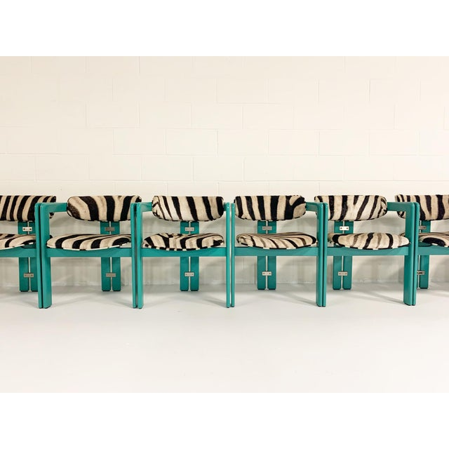 Modern Augusto Savini for Pozzi 'Pamplona' Dining Chairs in Zebra - Set of 8 For Sale - Image 3 of 10