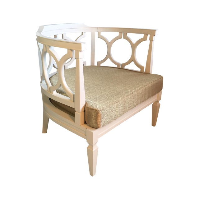 Hollywood Regency Occasional Boudoir Chair - Image 1 of 6
