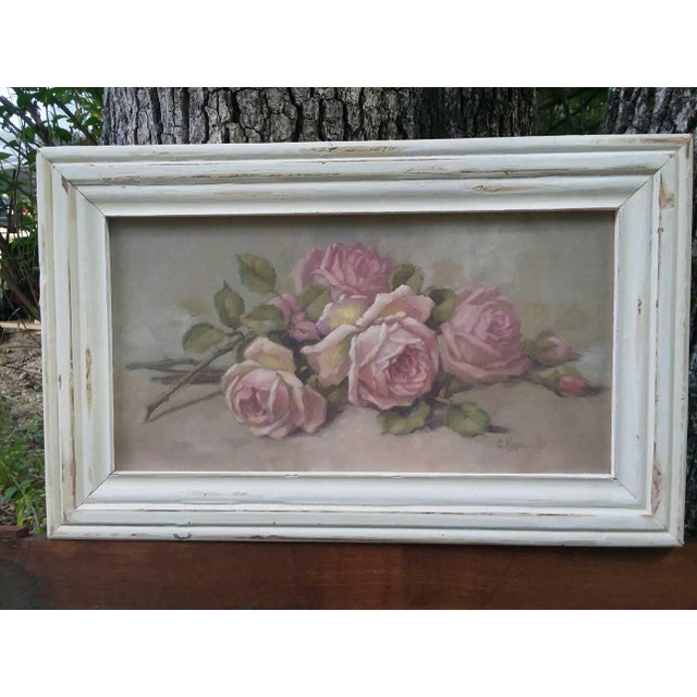 Christie Repasy Shabby Chic Roses Painting - Image 2 of 5