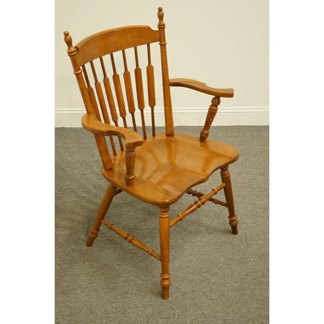 Tell City Maple Colonial Cattail Back Arm Chair For Sale - Image 4 of 9