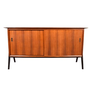1970s Mid Century Modern Atomic Rosewood Compact Sideboard For Sale
