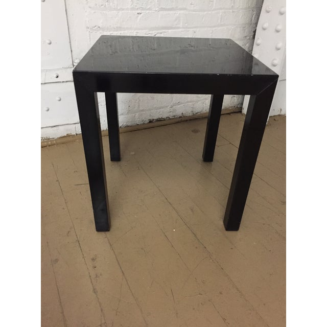Vintage 1970's Black Lacquer Occasional Tables - Set of 3 For Sale - Image 4 of 12