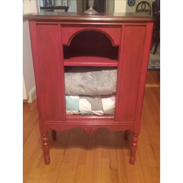 1940s Red Radio Cabinet - Image 4 of 6