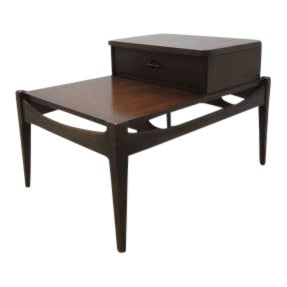Danish Modern Walnut Floating End Table For Sale
