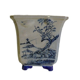 Chinese Oriental Scenery Planter For Sale