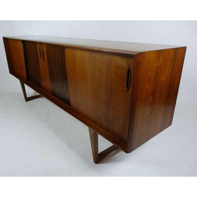 Rosewood Exceptional Danish Rosewood Credenza For Sale - Image 7 of 10