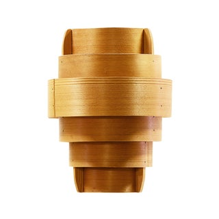 """Danish Modern Pine Veneer Pendant Light T478 """"Rapp"""" by Hans-Agne Jakobsson For Sale"""