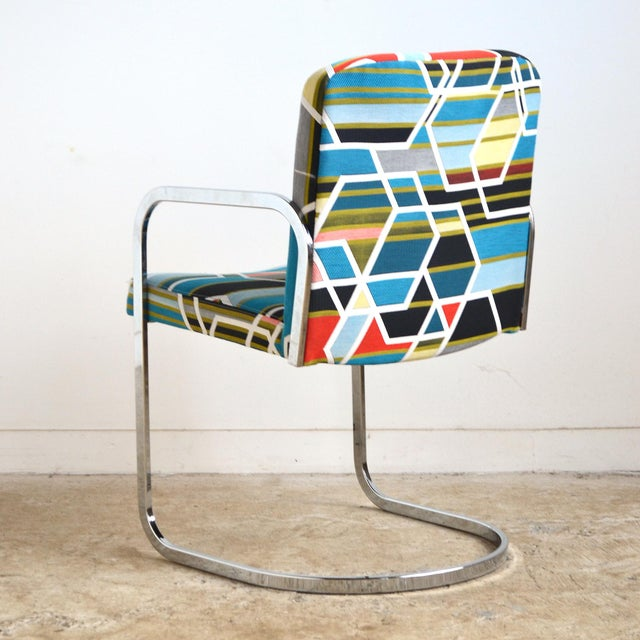 Design Institute of America Set of Four Chairs with Maharam Fabric For Sale In Chicago - Image 6 of 11