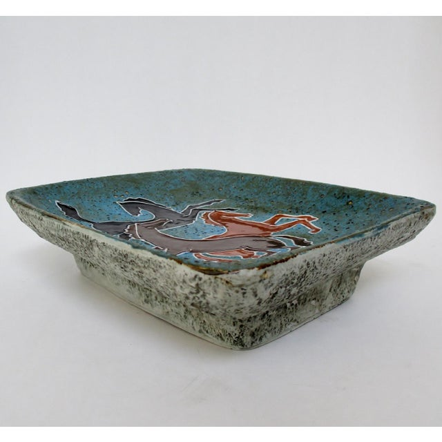 Mid 20th Century Vintage Italian Ceramic Catchall For Sale - Image 5 of 8