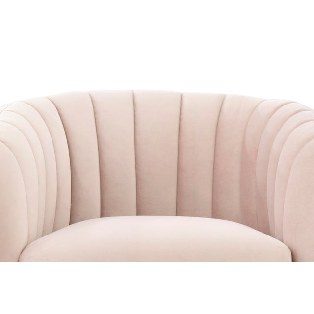Contemporary Pink Taylor Accent Chair For Sale - Image 3 of 7