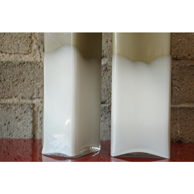 Glass Mid Century Cased Glass Bottles - a Pair For Sale - Image 7 of 7