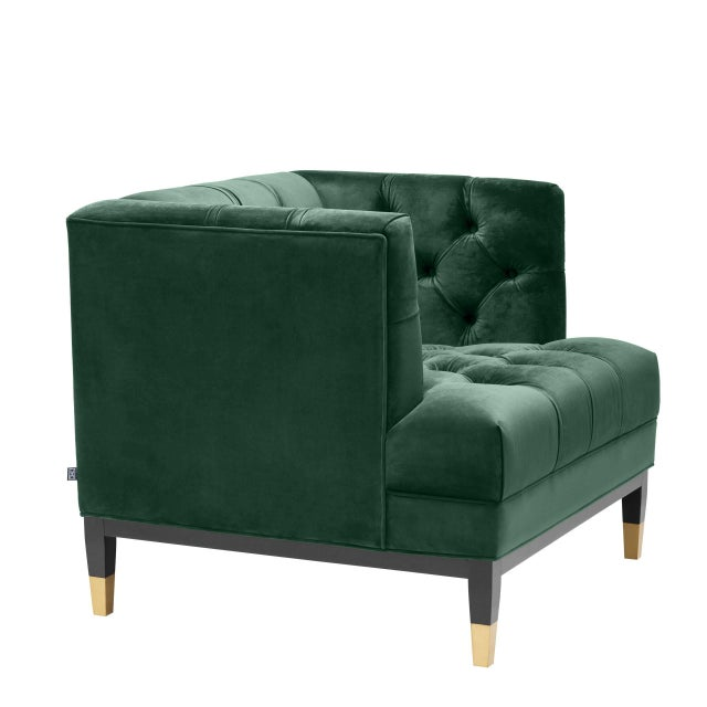 Not Yet Made - Made To Order Green Tufted Cube Chair | Eichholtz Castelle For Sale - Image 5 of 9