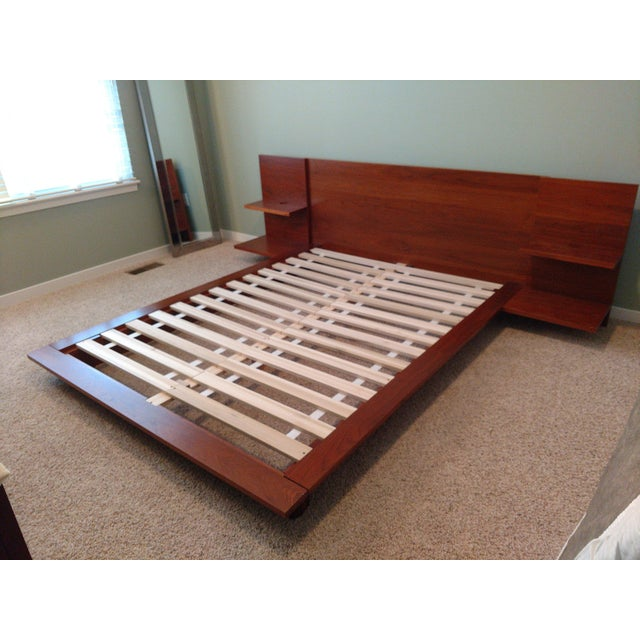CB2 Andes Acacia Queen Bed Frame For Sale