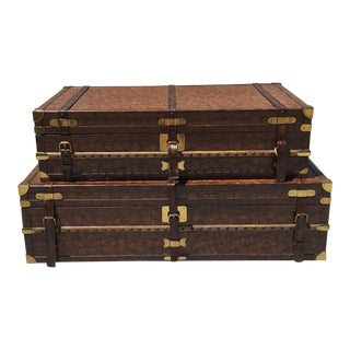 Maitland- Smith Stacking Suitcase Accent Table