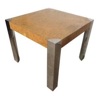 Milo Baughman Burl Wood Table For Sale