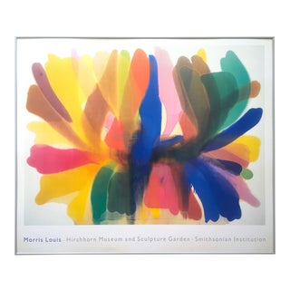 "Rare Vintage 1989 Morris Louis Xlarge Original Lithograph Print Framed Poster "" Point of Tranquility "" 1959"