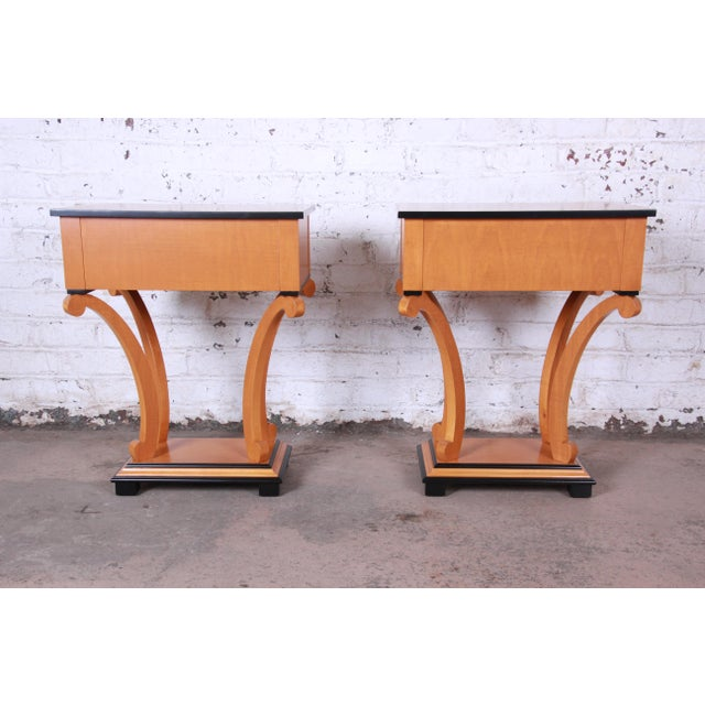 Baker Furniture Biedermeier Style Fully Restored Night Stands - a Pair For Sale - Image 11 of 13