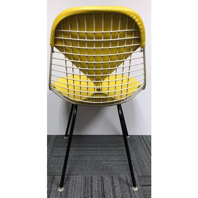 Herman Miller Herman Miller - Eames Mid-Century Modern Yellow Bikini Wire Chair For Sale - Image 4 of 7