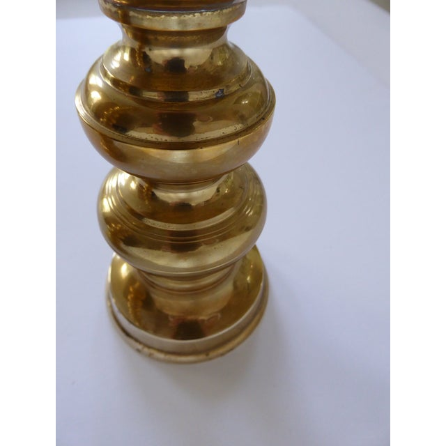 Gold VintageHoliday Christmas Brass Candle Holders - a Pair For Sale - Image 8 of 10