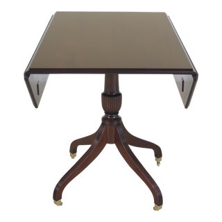 Madison Square Drop Leaf Mahogany Breakfast Dining Table For Sale