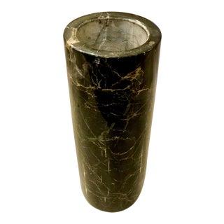 Mid Century Modern Black Marble Vase For Sale