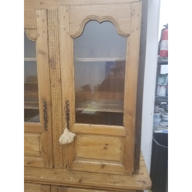 French Country Primitive Antique Pine Cupboard - Made in France For Sale - Image 3 of 13