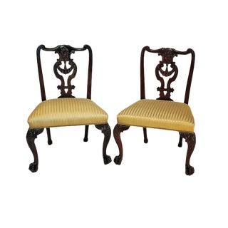 English Chippendale Mahogany Side Chairs - A Pair
