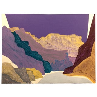 "Clare Romano ""Silver Canyon"" Hand Signed Limited Edition Print For Sale"
