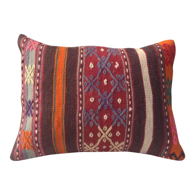 Turkish Kilim Pillow Cover - Image 1 of 6